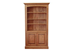 Adjustable Bookcase with Cupboard