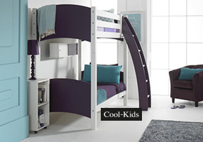 Bunk Bed white and plum