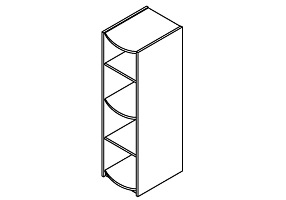 High sleeper tall shelf unit
